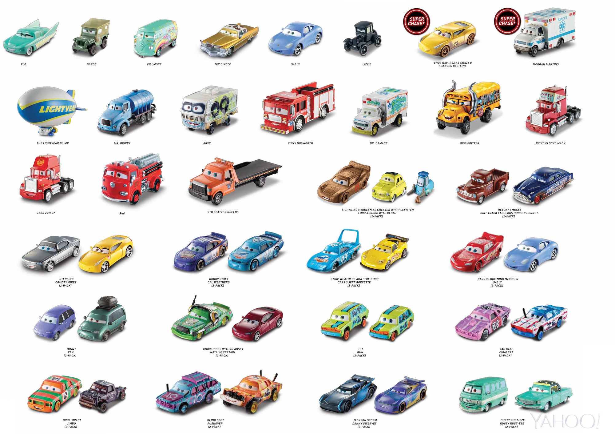 Cars 3 Exclusive New Toy Vehicles Put Radiator Springs Next Gen