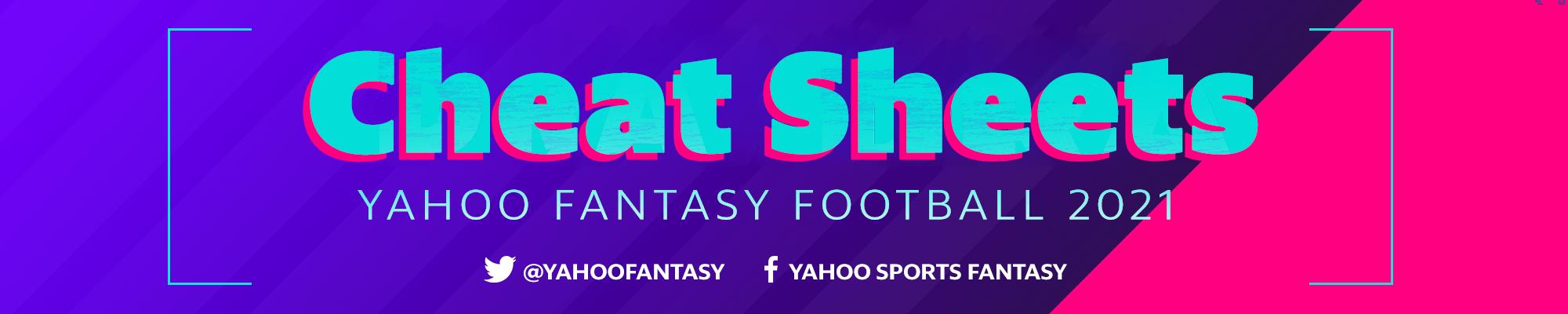 Yahoo Fantasy Football 2021 Cheat Sheets