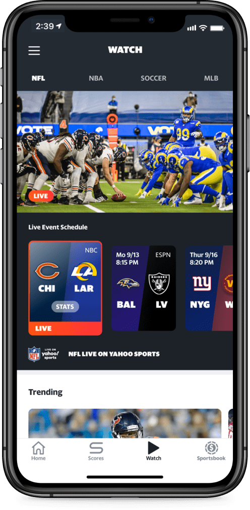 NFL Live device preview: Bears @ Rams