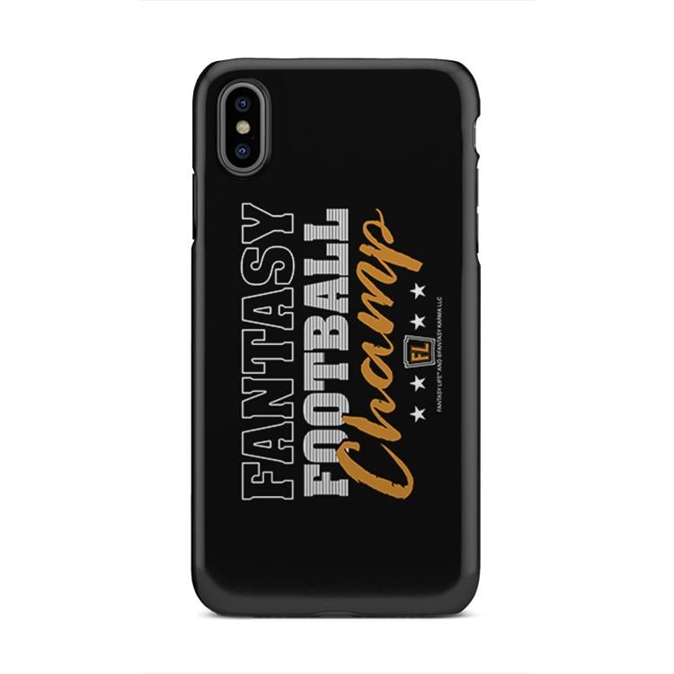 Buy Phone Case with printed text saying Fantasy Football Champ. Get 15% off with code Yahoo15FL