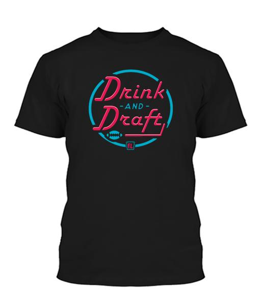 Buy T-shirt with printed text saying Drink and Draft. Get 15% off with code Yahoo15FL