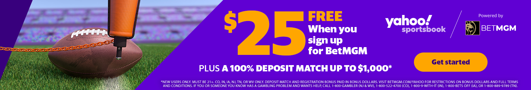 100% Deposit Match. Up to $1,000, new users only. Powered By Bet MGM. Bet now!