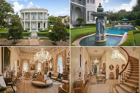 Urban mansions rich with history for Mansions in new orleans
