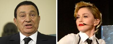 صورة مبارك على وجه مادونا