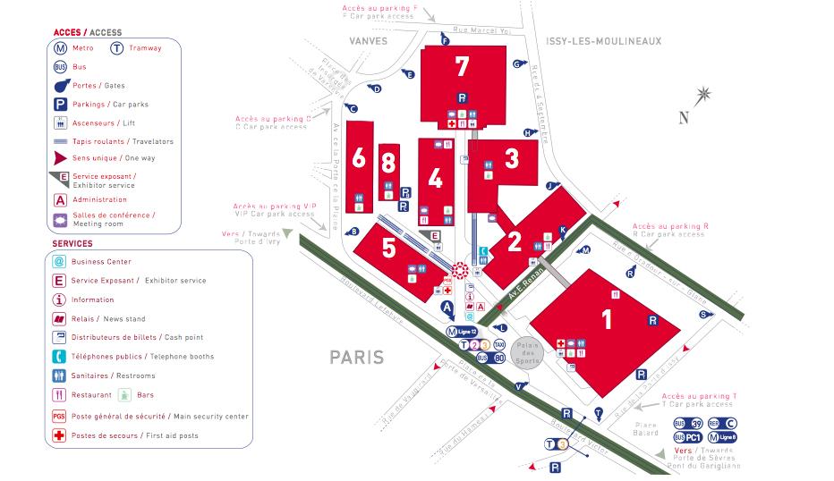 Plan Paris Porte de Versailles Paris Expo Porte de Versailles
