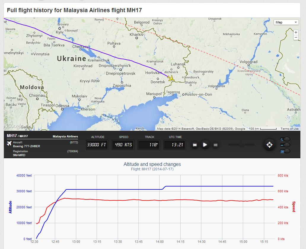 Local onde o avião desapareceu na fronteira da Ucrânia.