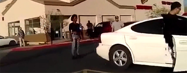 Parking argument turns nasty