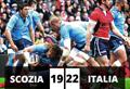 Impresa Italia! Scozia battuta 22-19