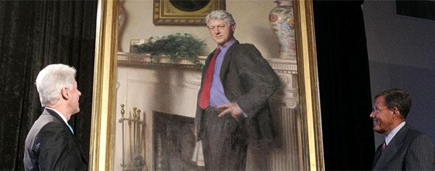 President Bill Clinton's official White House portrait (Haraz N. Ghanbari/AP)