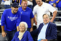 George H.W. Bush at tourney game with Cowboys stars