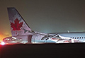 Air Canada plane crash lands at Halifax airport