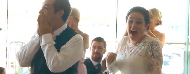 Shocked wedding couple (CBSTV)
