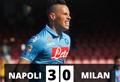 Tris al Milan: Napoli a -4 dalla Lazio