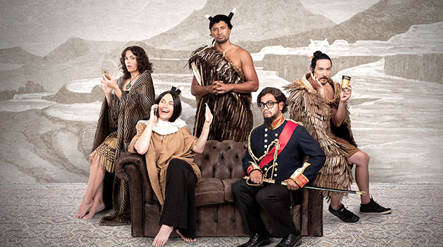 The cast of Find me a Maori Bride
