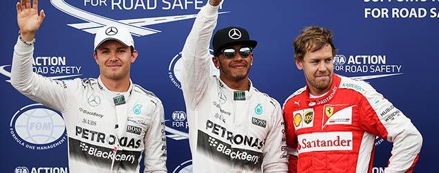 Rosberg, Hamilton and Vettel (Reuters)