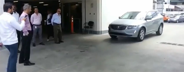 Self-parking car demo goes wrong