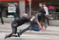 WATCH: Sword-wielding man caught by police