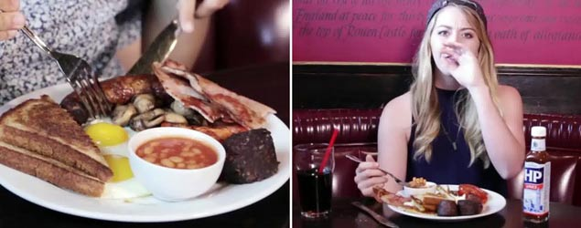 American's taste test a full English breakfast (BuzzFeed)