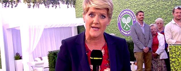 Clare Balding at Wimbledon (BBC)