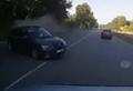 WATCH: Car rolls in horryfing highway crash