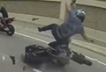 WATCH: Man jumps up unscathed after epic crash