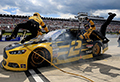 NASCAR driver ploughs into own pit crew