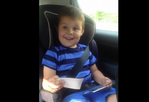 Boy's priceless reaction to becoming a big brother