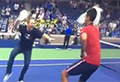 WATCH: Djokovic's dance battle with fan