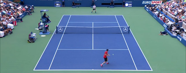 Outrageous shot fools Murray and wows crowd (Eurosport)