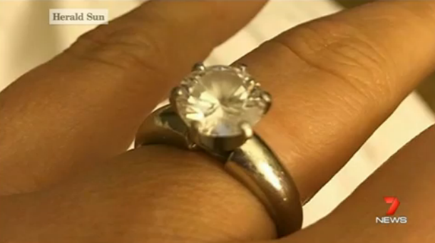 Puppy swallows $50 000 engagement ring Yahoo7
