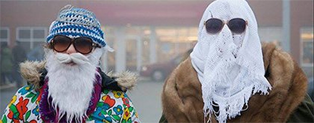 Masked voters. (Yahoo Canada News)
