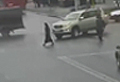 WATCH: Shocking moment car runs over woman