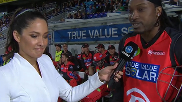 mel mclaughlin flirting Chris gayle was fined usd7,000 for his 'approach' to network ten reporter mel mclaughlin during a big bash league match more female journalists have alleged that the cricketer's behaviour is often 'creepy'.