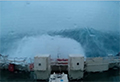 WATCH: 100ft wave looms over ship