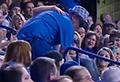 WATCH: Fan drops girl down stairs