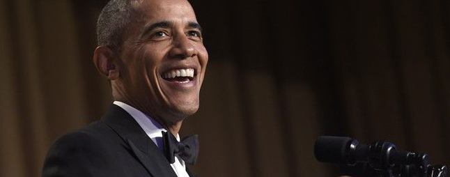 Obama squeezed in a Justin Trudeau joke at his final White House Correspondents' Dinner roast. THE CANADIAN PRESS/AP-Susan Walsh
