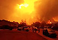 VIDEO: Skies turn red as town is engulfed by flame