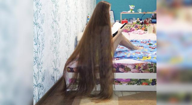 social news long hair real life rapunzel