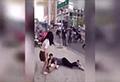WATCH: Guy clings to girlfriend's leg as she tries to dump him
