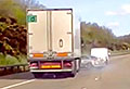 VIDEO: Lorry sideswipes a Mercedes and keeps going