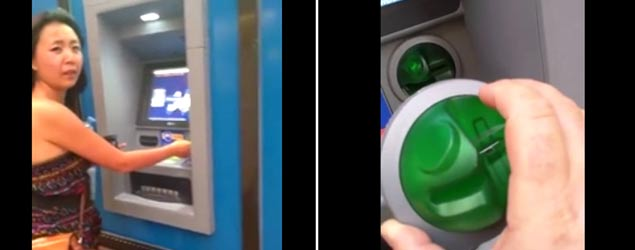 How this man spotted a cash machine skimmer (Jukin)