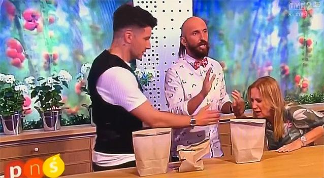 Polish TV presenter Marzena Rogalska injured when magic trick goes very wrong