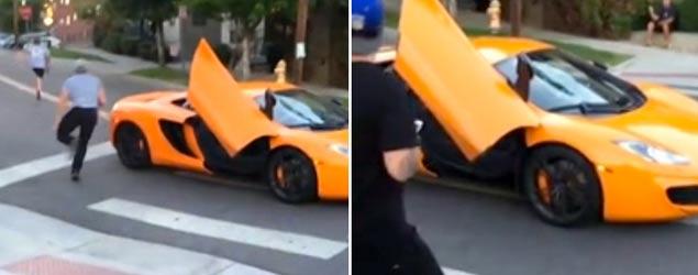 Skateboarder's revenge on expensive car