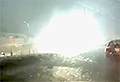VIDEO: Train station collapses after lightning strike