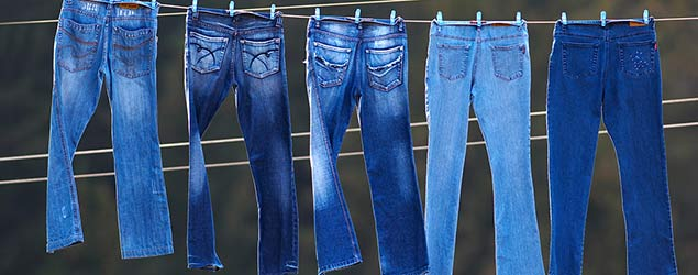 Jeans on a line (Getty)