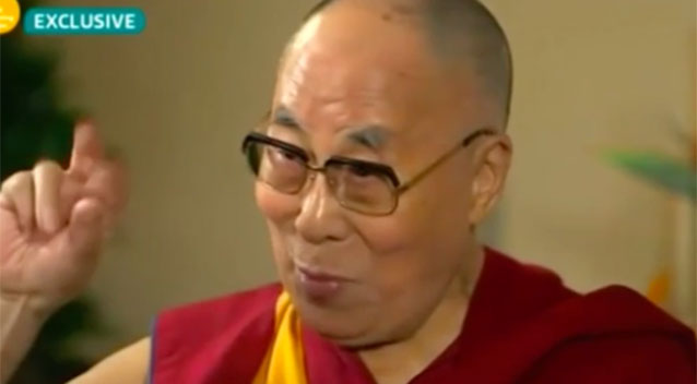 Dalai Lama impersonates Donald Trump during an interview with Good Morning Britain