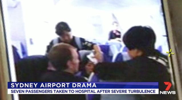 Pictured passengers injured in turbulent landing at - China eastern airlines sydney office ...