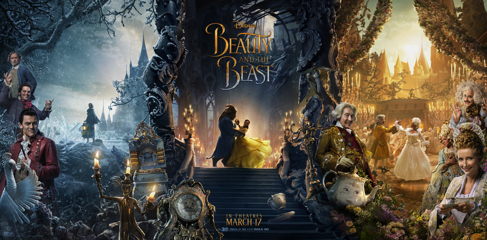 Photo flash all new triptych beauty the beast poster ft for Garderobe flach