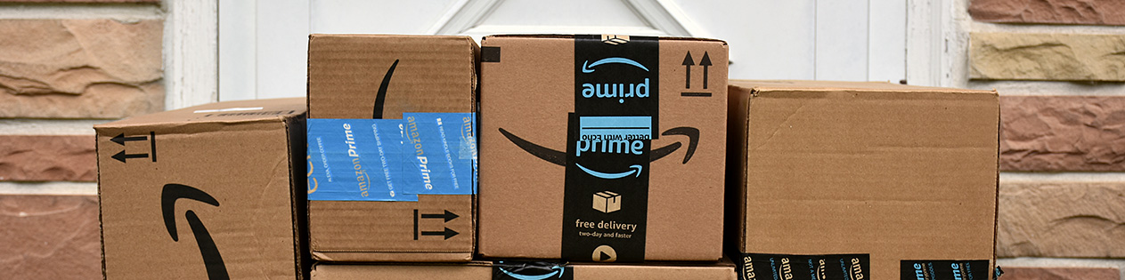 Parcel with Amazon Prime packaging