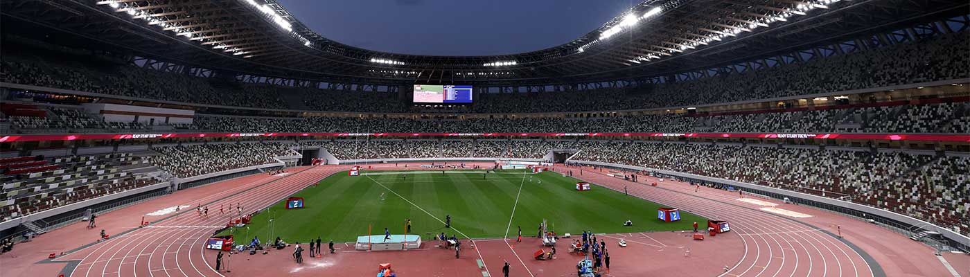 A picture of the Olympic Stadium in Tokyo. (Getty)